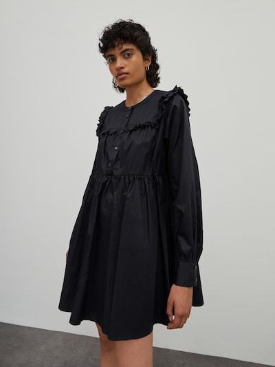 Rochie tip bluză 'Camryn' EDITED pe negru, Vizualizare model