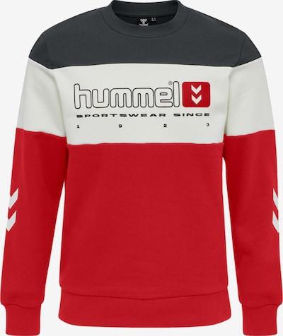 Hummel Sweatshirt 'MUSA' in dunkelgrau / rot / weiß, Produktansicht