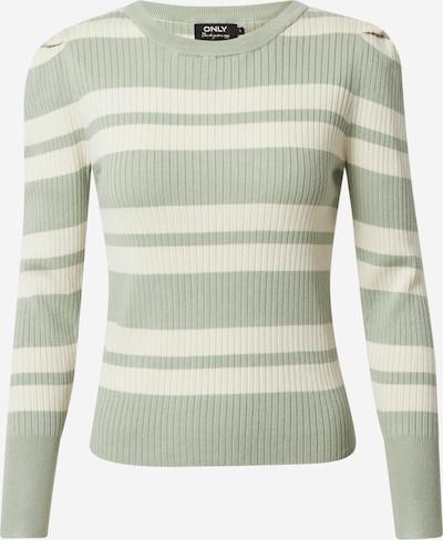 ONLY Pullover 'Emmy' in pastellgrün / naturweiß, Produktansicht
