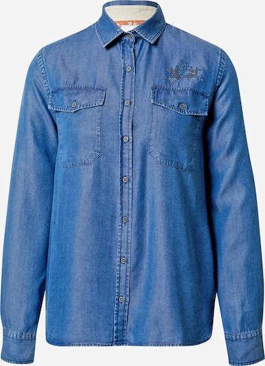 La Martina Bluse in blue denim, Produktansicht