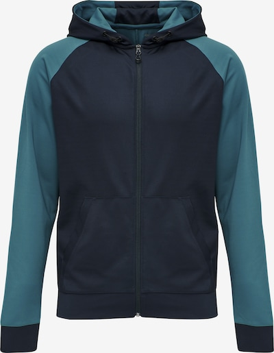 Hummel Sweatvest in de kleur Navy / Turquoise, Productweergave