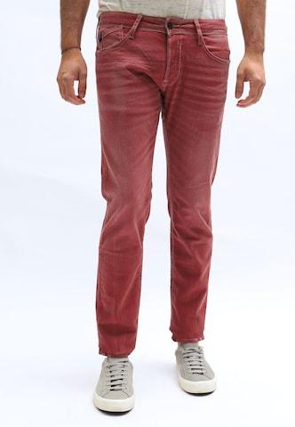 Le Temps Des Cerises Jeanshose 700/11 im Regular Fit-Schnitt in Rot