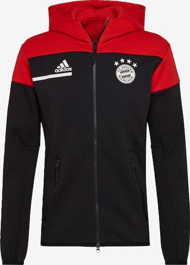 ADIDAS PERFORMANCE Športna jopa na zadrgo | rdeča / črna / bela barva, Prikaz izdelka