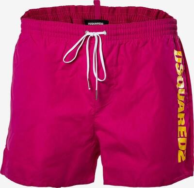 DSQUARED2  Badeshort in gelb / pink, Produktansicht