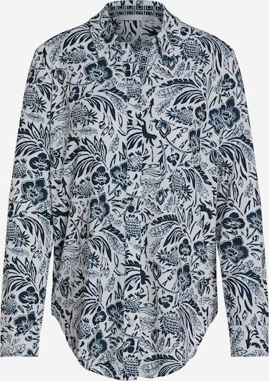 OUI Bluse in dunkelblau / weiß, Produktansicht