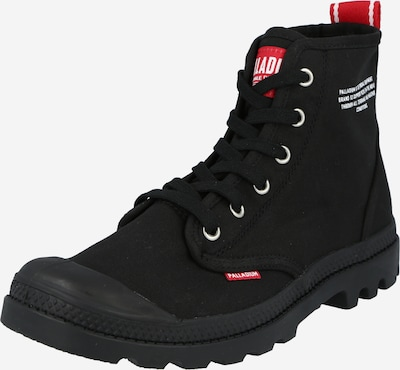 Palladium Lace-up boots 'Pampa Hi Dare' in red / black / white, Item view