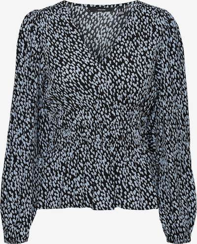 VERO MODA Blus 'Tania' i svart / vit: Sedd framifrån