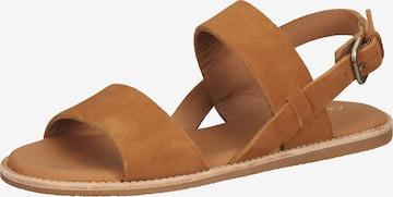 CLARKS Sandale 'Karsea Strap' in Braun