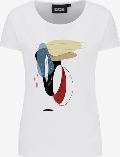 recolution T-Shirt 'BOBBIE' in blau / gelb / rot / schwarz / weiß, Produktansicht