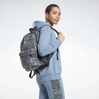 Reebok Sport Sports Backpack 'Modern Safari' in Grey / Light grey / Black: Frontal view