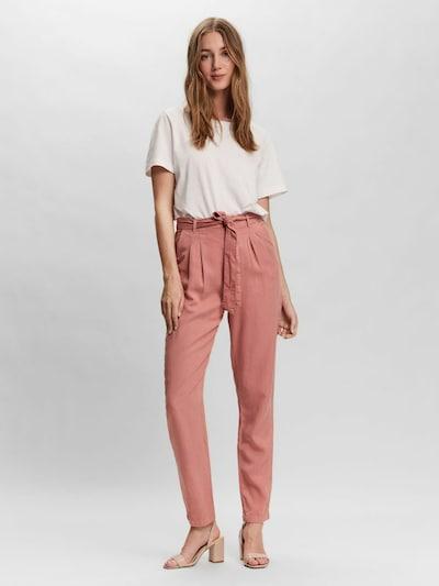Pantaloni con pieghe VERO MODA di colore rosa antico, Visualizzazione modelli