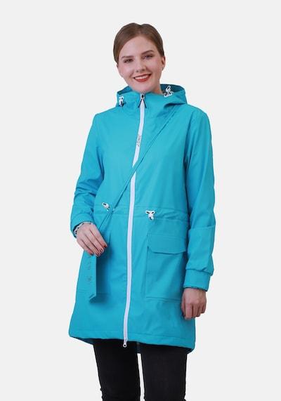 Dingy Rhythm Of The Rain Mantel 'Sherry' in blau, Modelansicht