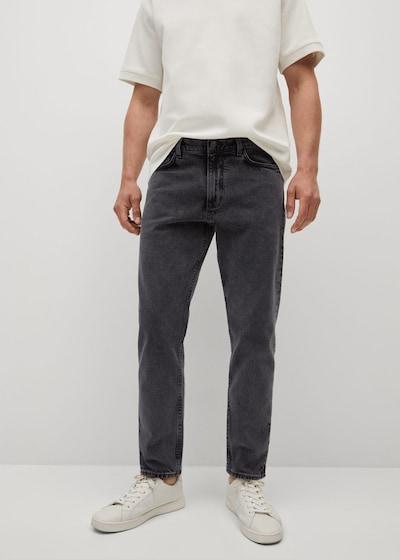 MANGO MAN Jeans 'ben' in black denim, Modelansicht
