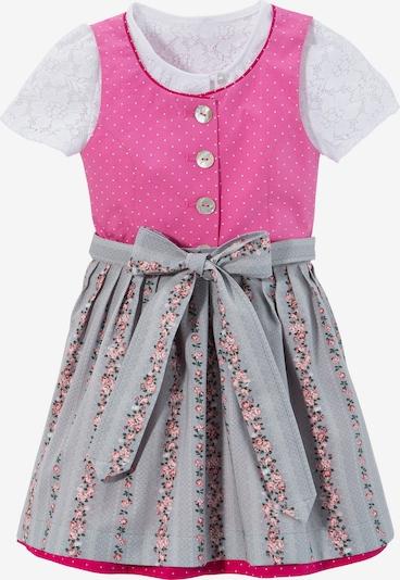 BERWIN & WOLFF Dress in Grey / Pink / Light pink / White, Item view