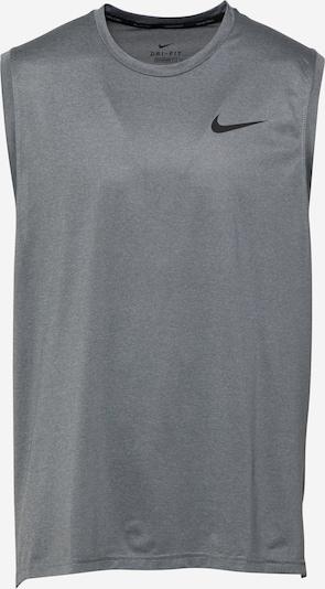 NIKE Koszulka funkcyjna w kolorze nakrapiany szary / czarnym, Podgląd produktu