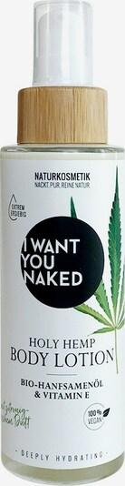 I Want You Naked Bodylotion 'Holy Hemp' in weiß, Produktansicht