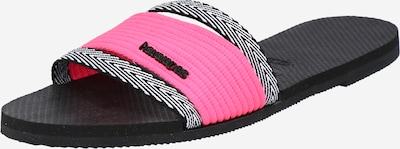 HAVAIANAS Чехли 'HAV. YOU TRANCOSO' в розово / черно / бяло, Преглед на продукта