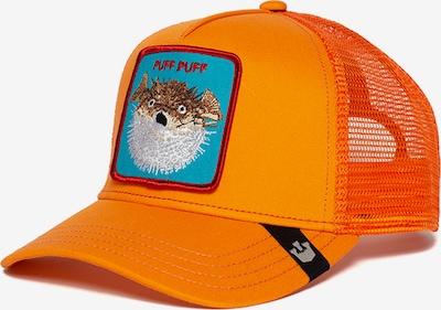 GOORIN Bros. Casquette 'Puff' en turquoise / marron / mélange de couleurs / orange clair / orange foncé, Vue avec produit