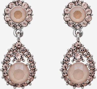 Cercei 'Sofia' LILY AND ROSE pe roz / argintiu / offwhite, Vizualizare produs