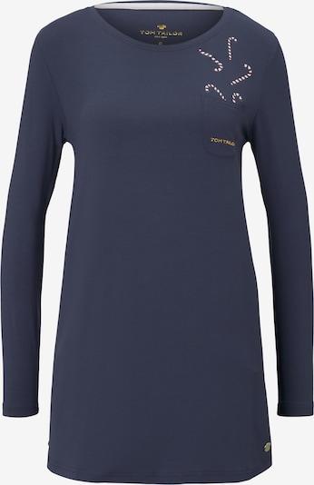 TOM TAILOR Nachthemd in dunkelblau / beere / weiß, Produktansicht