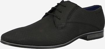 bugatti Δετό παπούτσι σε μαύρο