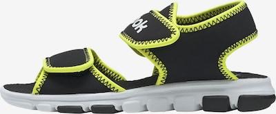 REEBOK Sandale 'Wave Glider III' in limone / schwarz / weiß, Produktansicht
