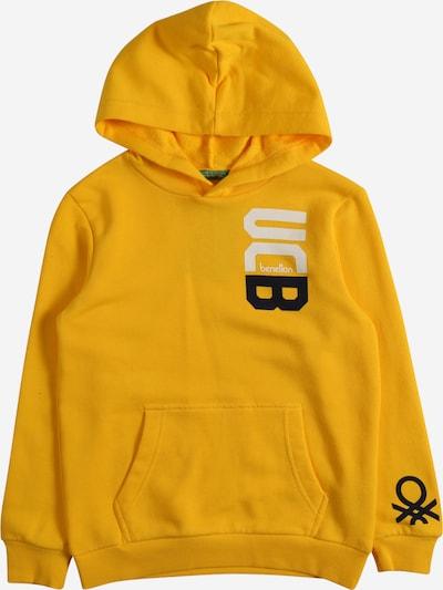 UNITED COLORS OF BENETTON Sweater majica u senf / crna / bijela, Pregled proizvoda