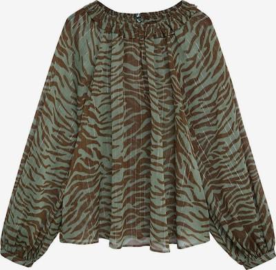 MANGO Bluse in braun / khaki, Produktansicht