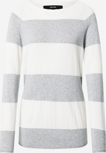 VERO MODA Pull-over 'Nellie  Glory' en gris chiné / blanc, Vue avec produit