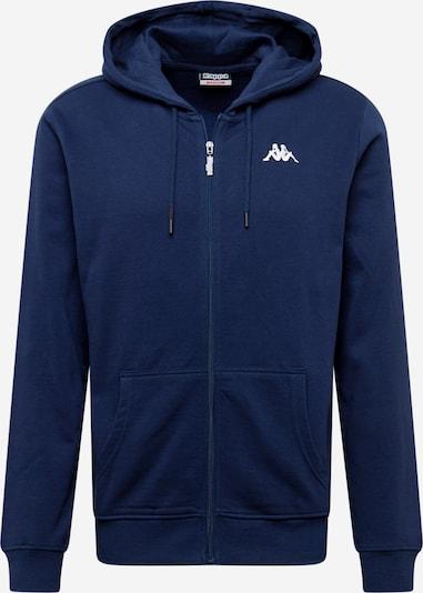 Bluză cu fermoar sport 'Veil' KAPPA pe albastru închis / negru / alb, Vizualizare produs
