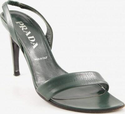 PRADA Sandals & High-Heeled Sandals in 38,5 in Dark green, Item view