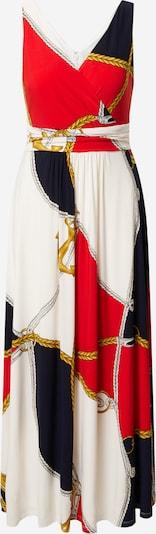 Lauren Ralph Lauren Večerna obleka 'ABAGAIL' | temno modra / zlata / rdeča / bela barva, Prikaz izdelka