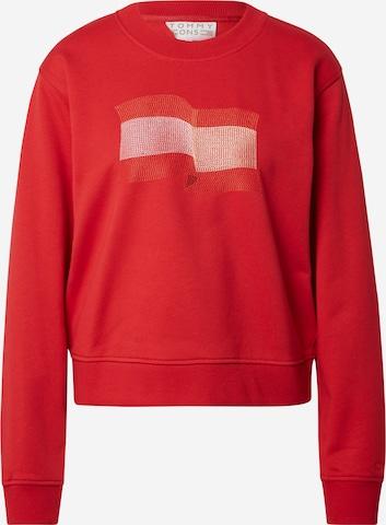 TOMMY HILFIGER Sweatshirt in Rot