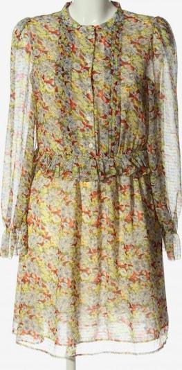 Paris Atelier Langarmkleid in L in pastellgelb / hellgrau / khaki, Produktansicht