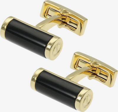 Davidoff Manschettenknöpfe  'Essentials ' in gold / schwarz, Produktansicht