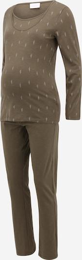 MAMALICIOUS Pyjama 'Bea Nell' in khaki / silber, Produktansicht