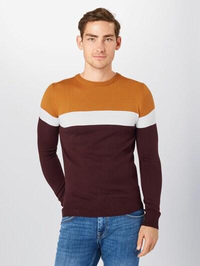 Megztinis iš BRAVE SOUL , spalva - kupranugario / vyno raudona spalva / balkšva: Vaizdas iš priekio