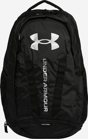 UNDER ARMOUR Sports backpack 'Hustle 5.0' in black / white, Item view
