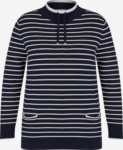 Rabe Pullover in schwarz / weiß, Produktansicht