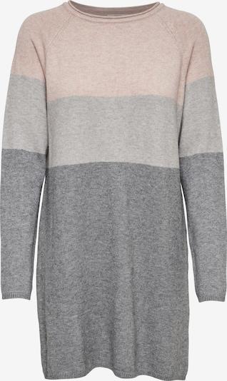 ONLY Kleid in grau / dunkelgrau / rosa, Produktansicht