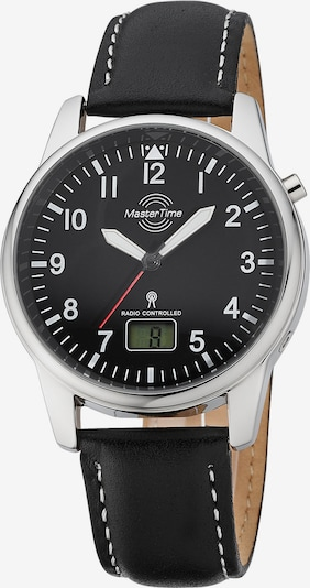 Master Time Funkuhr in schwarz / silber, Produktansicht