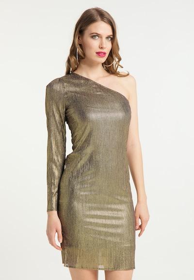 faina Kleid in gold, Modelansicht