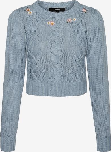 VERO MODA Pullover 'EMBIA' in himmelblau / pastellpink / weiß, Produktansicht