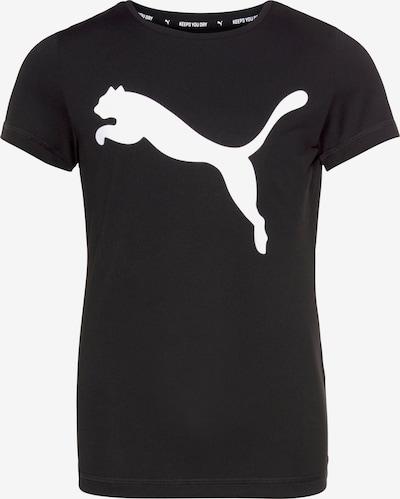PUMA Funktionsshirt 'Active' in schwarz / weiß: Frontalansicht