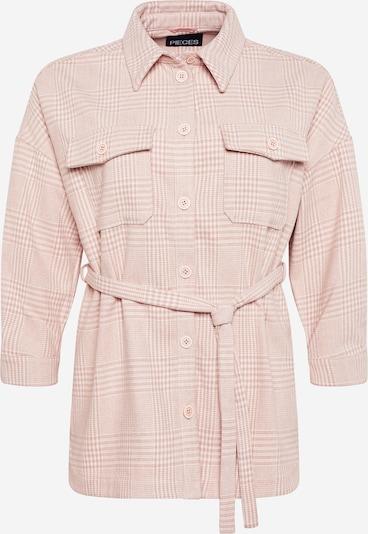 Giacca di mezza stagione 'GWYNETH' PIECES (Curve) di colore rosa antico / bianco, Visualizzazione prodotti