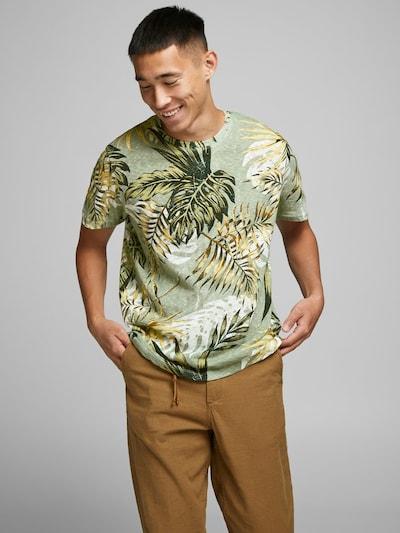 JACK & JONES Shirt in de kleur Lichtgroen / Donkergroen / Wit: Vooraanzicht