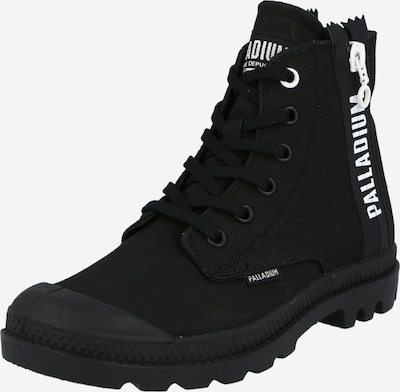 Palladium Lace-up bootie 'PAMPA 2' in black / white, Item view
