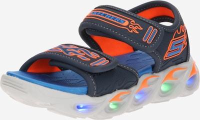 SKECHERS Chaussures ouvertes en bleu nuit / bleu ciel / orange clair / blanc, Vue avec produit