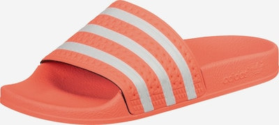 ADIDAS ORIGINALS Badeschuhe 'Adilette' in orange / weiß, Produktansicht