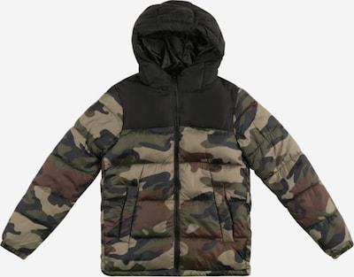 Jack & Jones Junior Övergångsjacka 'PAUL' i mörkbrun / khaki / oliv / svart, Produktvy